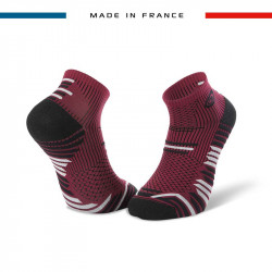 TRAIL ELITE bordeaux-black ankle socks | Made in France