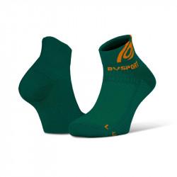 Running ankle socks Light 3D green-orange