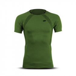 Man short sleeves t-shirt RTECH EVO2 khaki green