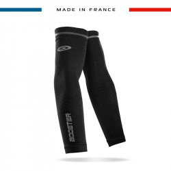 Arm sleeves BOOSTER black made in France | BV SPORT