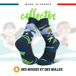 Chaussettes collector DBDB TRAIL ULTRA forêt grise | Made in France
