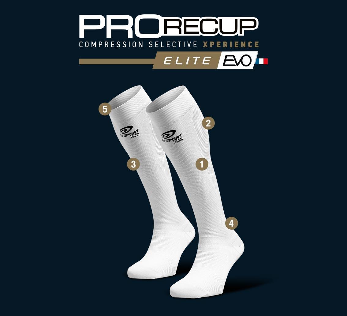 Descrizione_Calze recupero ProRecup Elite EVO bianco