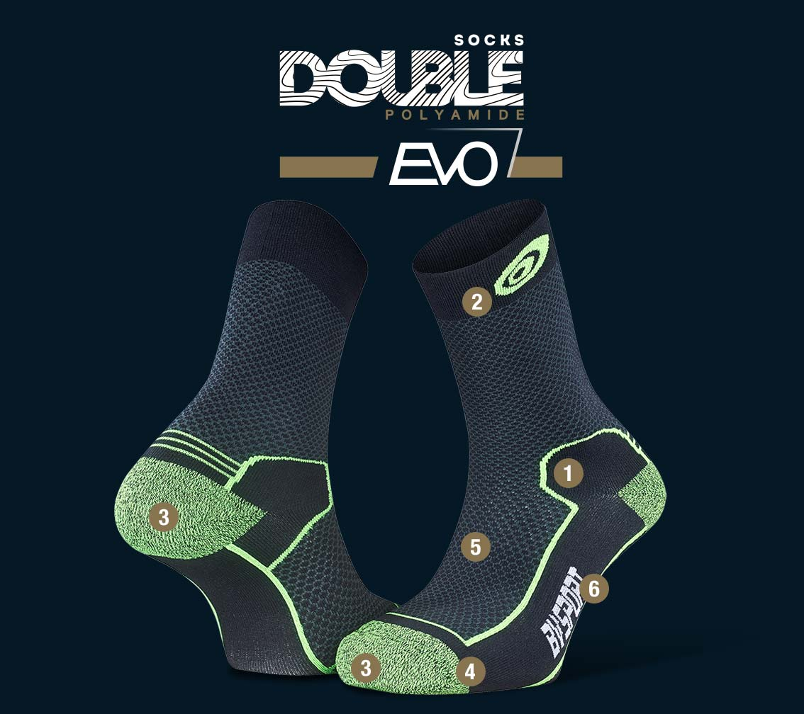 Hiking_socks_Double_polyamide_EVO_mid-cut_black-green