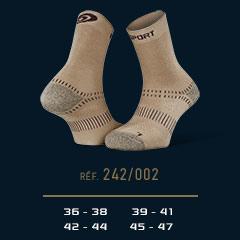 Chaussettes Double EVO beige
