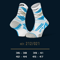 Chaussettes_running_RSX_EVO_burlington_blanc-bleu - Collector Edition