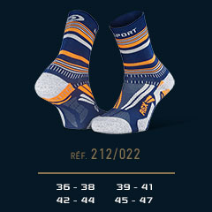 Chaussettes_running_RSX_EVO_tennis_bleu-orange - Collector_Edition