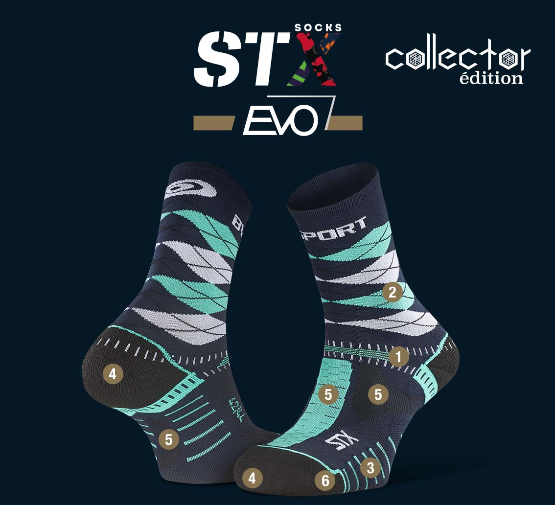 STX EVO_trail_socks_burlington_blue-green - Collector Edition