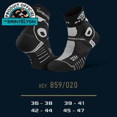 Socquettes STX+ EVO Saintélyon 2019 noir-gris