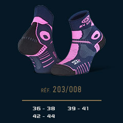 Socquettes STX+EVO bleu-rose