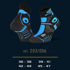 Socquettes STX+ EVO noir-bleu