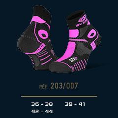 Socquettes STX+ EVO noir-rose