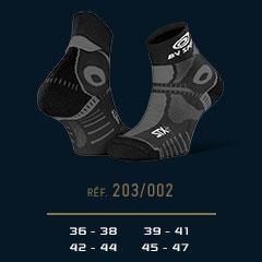 Socquettes STX+EVO noir-gris
