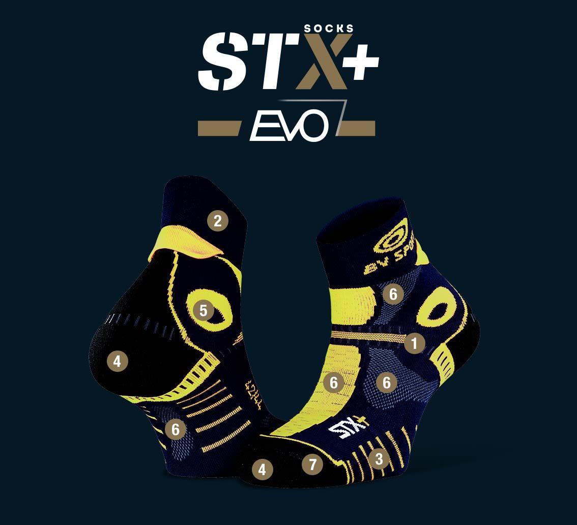 Calze corte STX+ EVO blu notte-oro