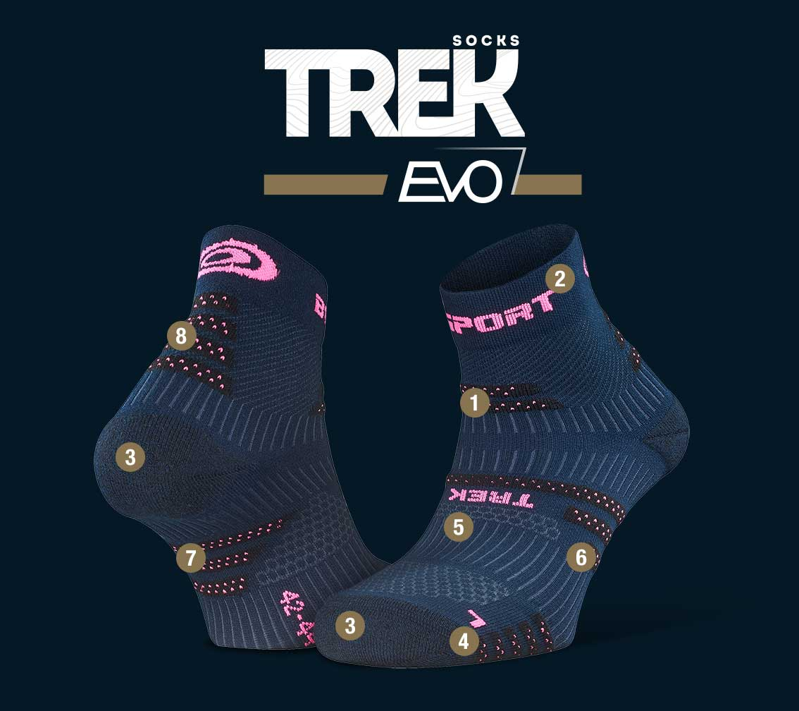 Hiking_ankle_socks_TREK_EVO_blue-pink