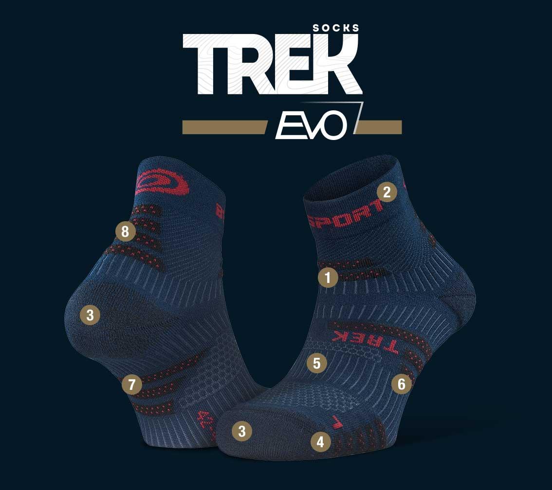 Hiking_ankle_socks_TREK_EVO_blue-red