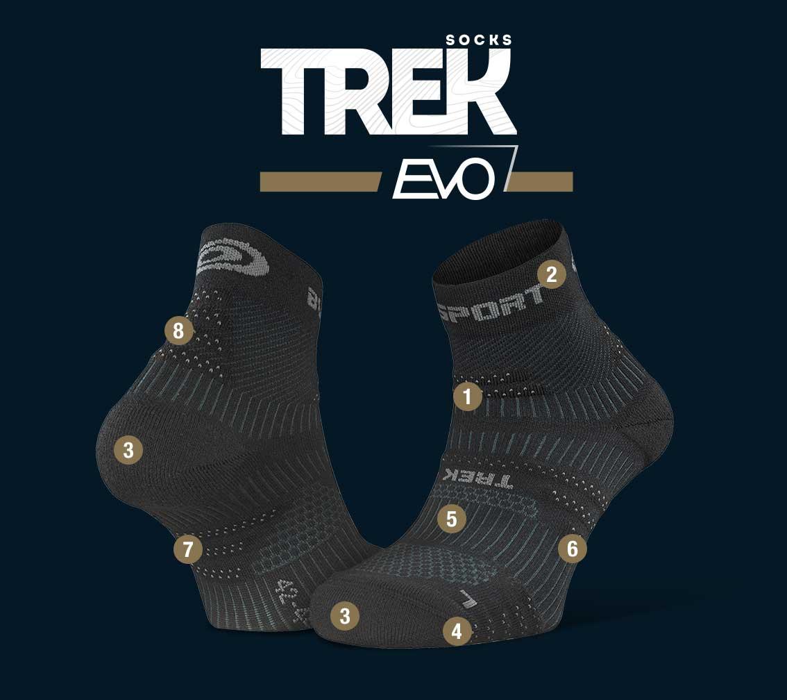 Hiking_ankle_socks_TREK_EVO_black-grey
