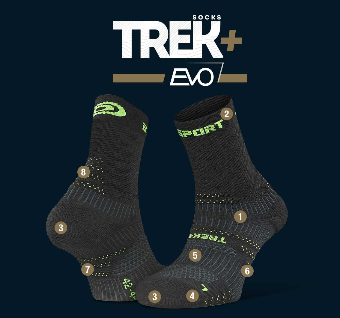 Hiking_socks_TREK+_EVO_black-green