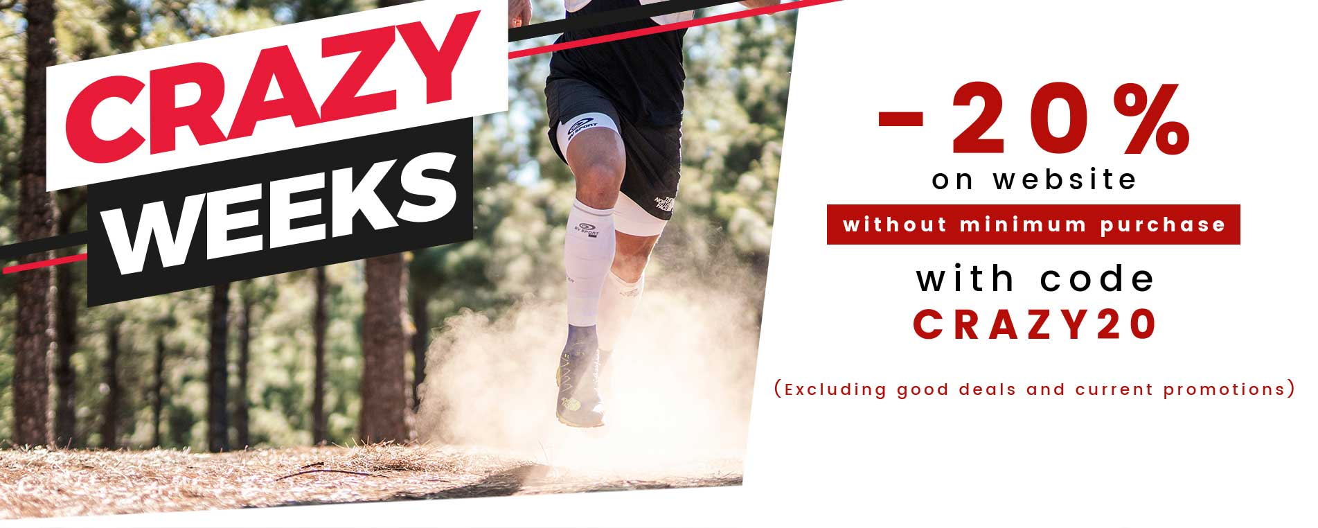 Crazy Weeks | From 16 to 30 September 2020, take advantage of a 20% discount on the bv sport website with the code CRAZY20. Offer valid excluding products already on sale or current promotions.