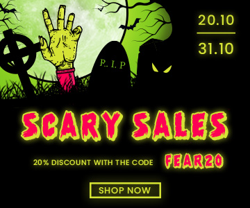 Halloween: 20% off (excluding promotions and products already discounted) with the code FEAR20